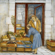 Street Vendor, 24¨ x 24¨, oil on canvas