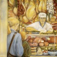 """Butcher Shop24"""" x 24"""", oil on canvas"""