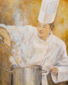 Lady Chef, 24¨ x 30¨ oil on canvas