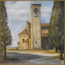 Church in Artimino, 24¨ x 24¨, oil on canvas
