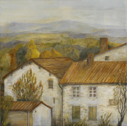 Country Houses in Autumn*, 24¨ x 24¨, oil on canvas