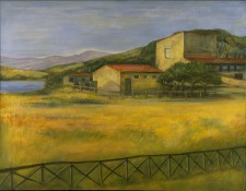 Farm by the Lake, 48¨ x 60¨, oil on canvas