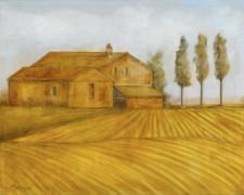 Farmhouse Near Perugia, 24¨ x 36¨, oil on canvas