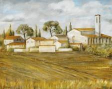 Italian Village, 30¨ x 24¨, oil on canvas