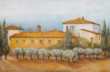 Olive Grove, 36¨ x 24¨, oil on canvas,