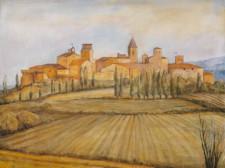 Certaldo, oil on canvas, 36¨ x 48¨, oil on canvas