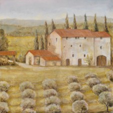 """Italian Country House With Olive Trees*, 24"""" x 24"""""""