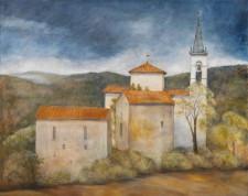 Tuscan Church*, oil on canvas, 60¨ x 48¨
