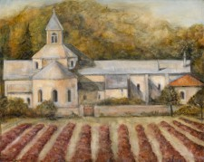 Church in Provence, oil on wood, 20¨ x 16¨