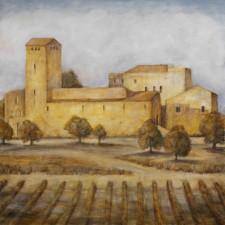 Church With Vineyard*, oil on canvas, 48¨ x 48¨