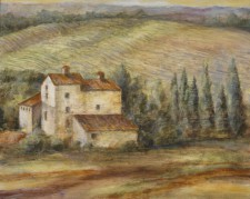 Italian Country House, 12¨ x 18¨, oil on wood