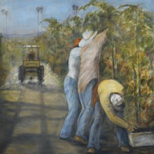 Grape Pickers*, 48¨ x 48¨, oil on canvas