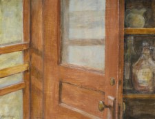 Red Door, 12¨ x 14¨, oil on wood