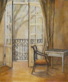 Chair and Balcony, 22¨ x 24¨, oil on canvas
