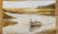Small Boat*, 22¨ x 17¨, oil on wood