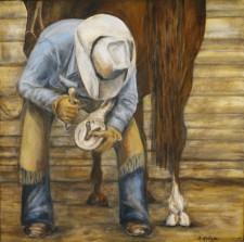 Farrier*, 24¨ x 24¨, oil on canvas