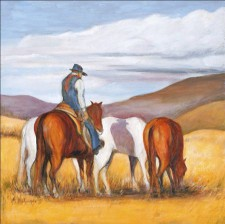 Cowboy*, 24¨ x 24¨, oil on canvas