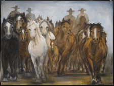 Stampede*, 48¨ x 60¨, oil on canvas