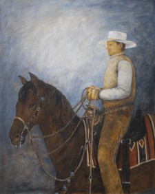 "Horse Man*, 48"" x 60"", oil on canvas"