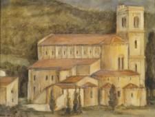 "Sant'Antimo, oil on canvas, 12"" x 16"""