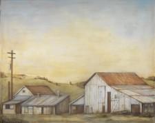 """Sonoma Farm, oil on canvas, 48"""" x 60"""""""