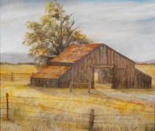 "Sonoma Barn*. oil on canvas, 30"" x 36"" oil on wood"
