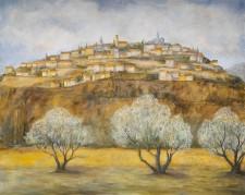 "Italian Hill Town, oil on canvas, 48"" x 60"""