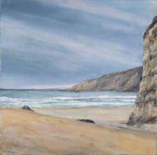"""Beach, 18"""" x 20"""", oil on canvas"""