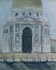 """Della Salute (Venice), oil on canvas, 48""""x60"""""""