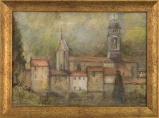 """Italian Village, oil on wood, 8""""x10"""""""