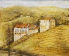 """Italian Vineyard, 24""""x30"""", oil on canvas"""