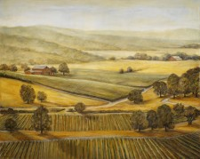 "Sonoma Valley, 48""x60"", oil on canvas"
