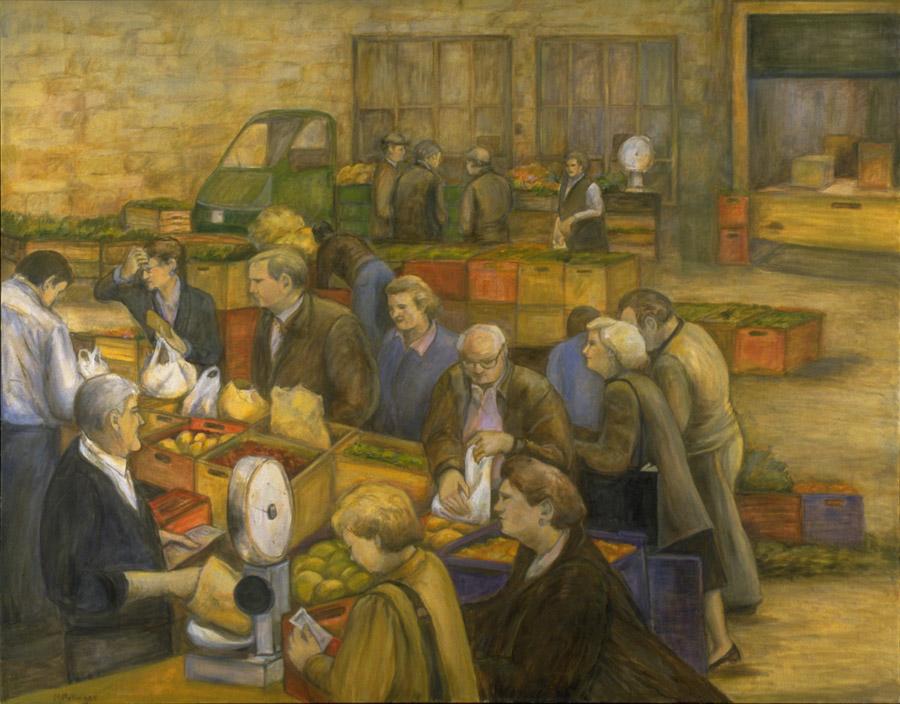 Italian Farmers Market, 48¨ x 60¨, oil on canvas