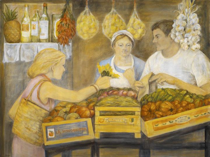 Farmers Market, 36¨ x 48¨, oil on canvas