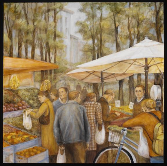 City Market, 36¨ x 36¨, oil on canvas