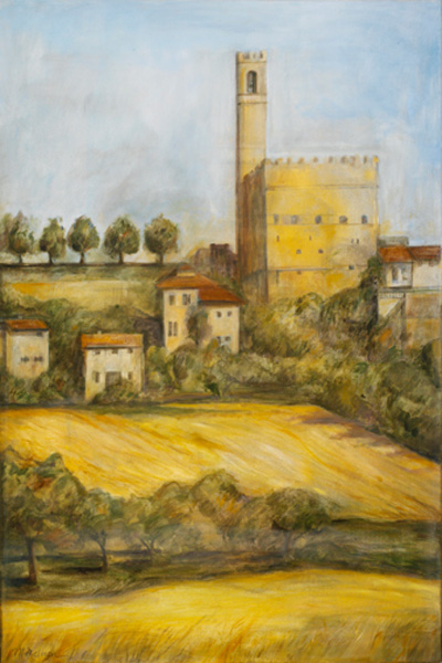Castle, Poppi 24¨ x 36¨, oil on canvas