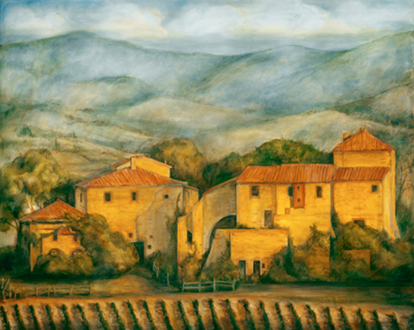 Maremma Farm, 48¨ x 60¨ oil on canvas