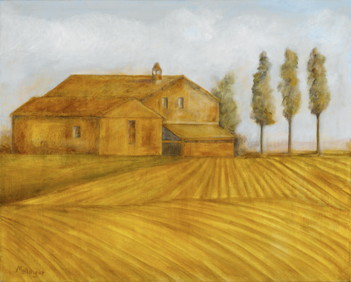 Farmhouse Near Perugia, 24¨ x 36¨, oil on canvas