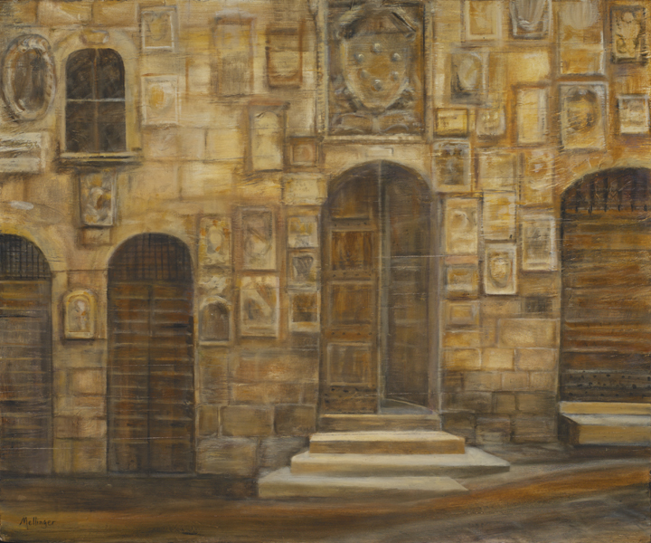 Doors, oil on wood, 19