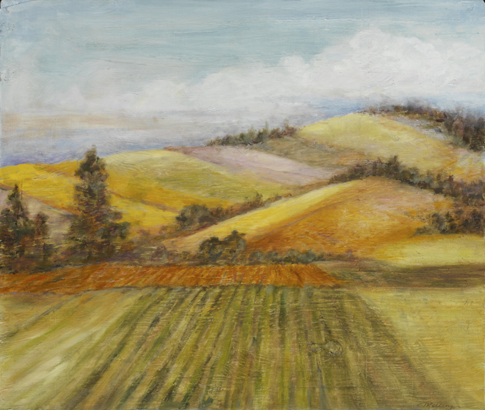 * Sonoma Landscape, 22¨ x 19¨, oil on wood