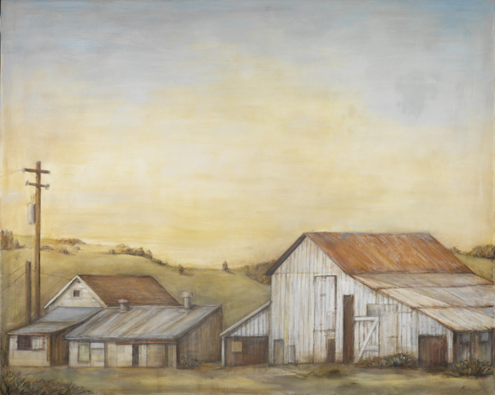 Sonoma Farm, oil on canvas, 48
