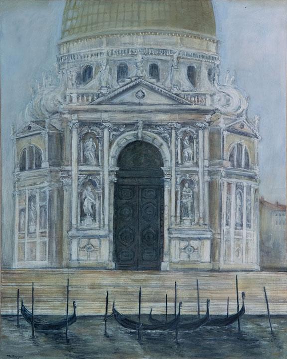 Della Salute (Venice), oil on canvas, 48