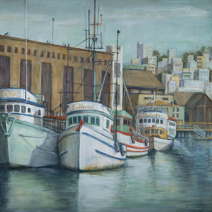 Fisherman's Wharf, oil on canvas, 48