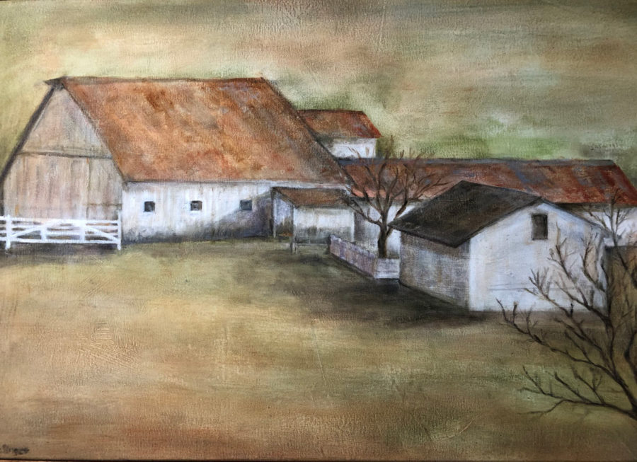 Sonoma Farm, oil on canvas